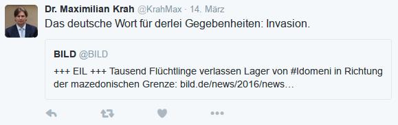 """""""Das deutsche Wort für derlei Gegebenheiten: Invasion."""""""