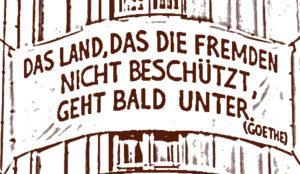 Goethe mischte sich auch nur kurz unter die Sachsen