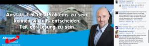 Facebookauftritt von Nico Köhler (Screenshot vom 26.9.2016)